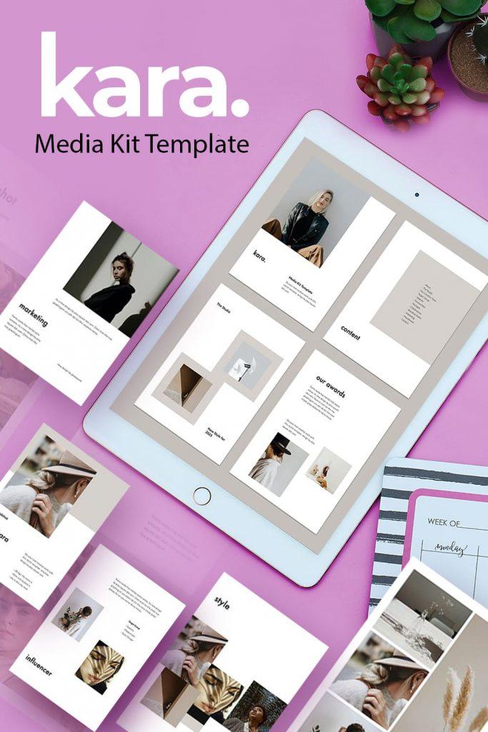 KARA - Vertical Powerpoint Template by MasterBundles Pinterest Collage Image.
