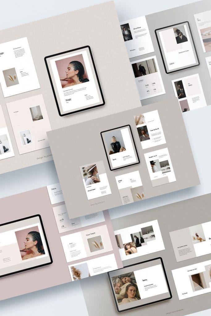 Keynote Media/Press Kit Bundle by MasterBundles Pinterest Collage Image.