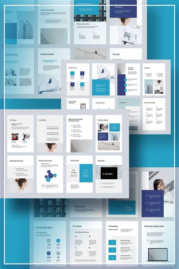 ARON Vertical Google Slides Template by MasterBundles Pinterest Collage Image.