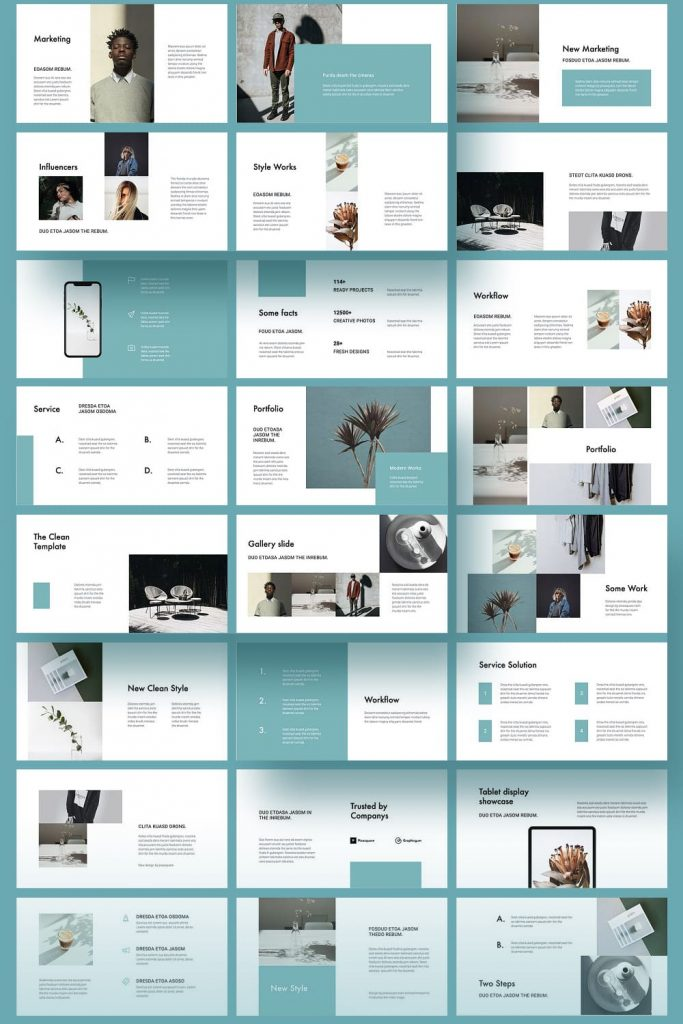 CABO Google Slides Template by MasterBundles Pinterest Collage Image.