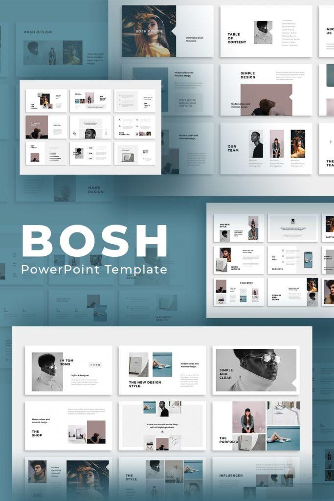 BOSH - Powerpoint Template by MasterBundles Pinterest Collage Image.