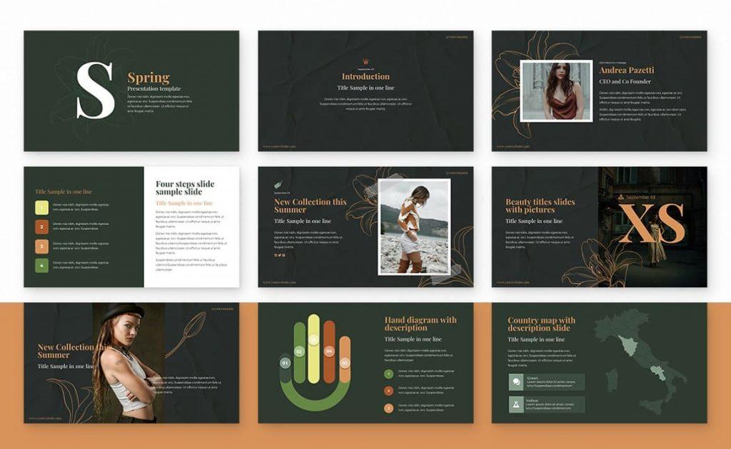 Spring Powerpoint Presentation slides.