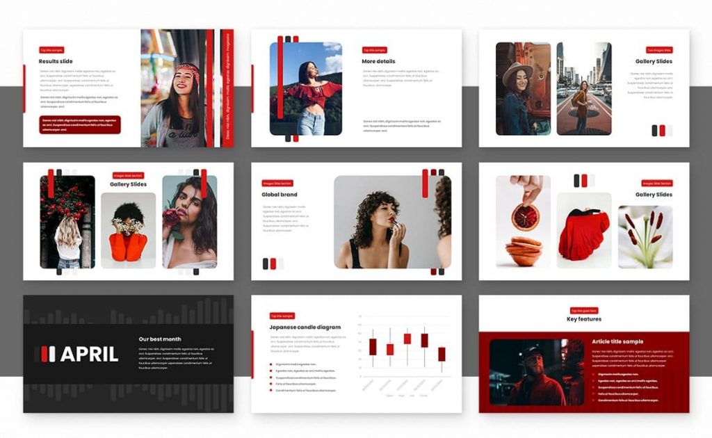 Strips Class Powerpoint Presentation Template Preview.