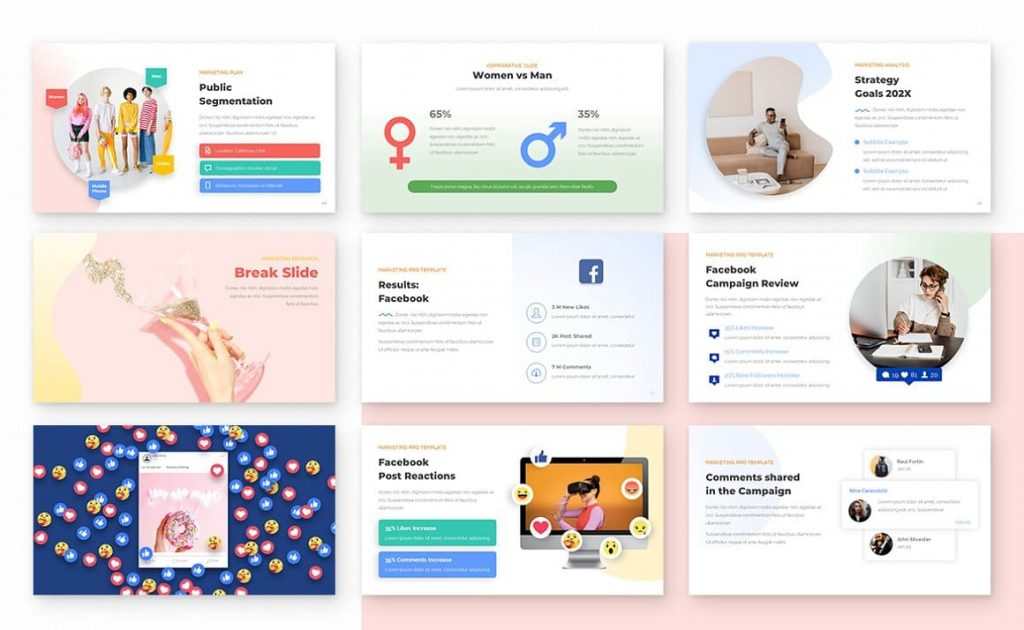 Fully editable Marketing PRO Powerpoint Template, PPT Templates for Marketing Presentation.
