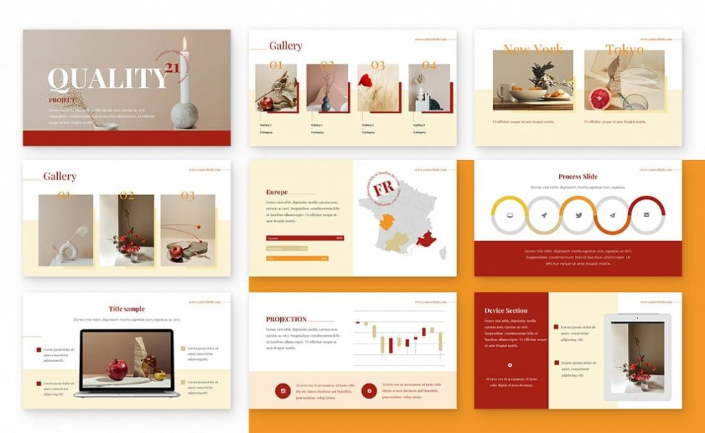 Slides Ginger Powerpoint Presentation Template.