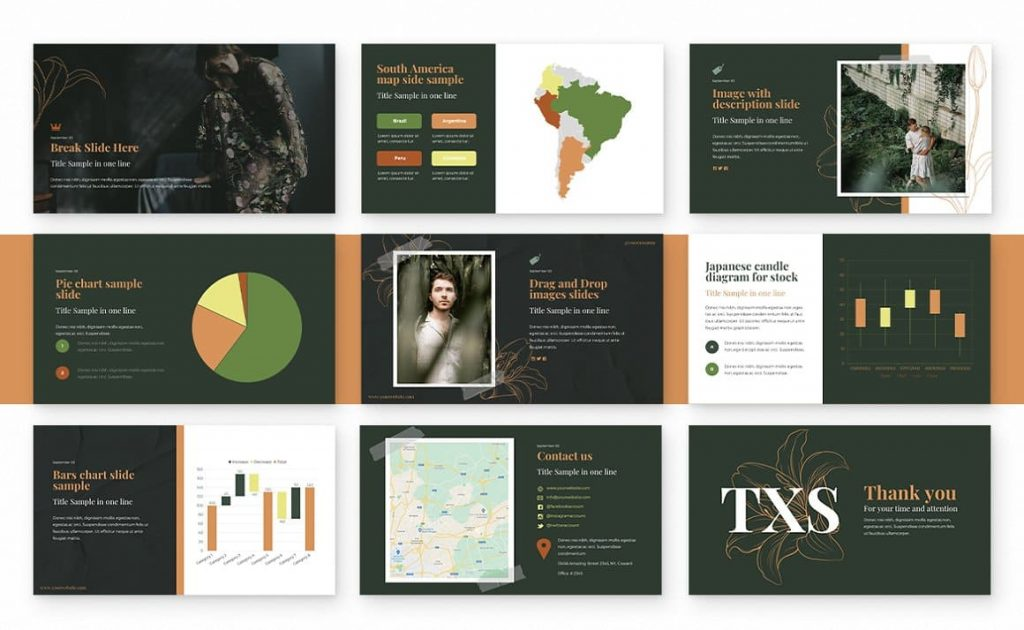 More than 180 theme colors variations Spring Powerpoint Presentation.