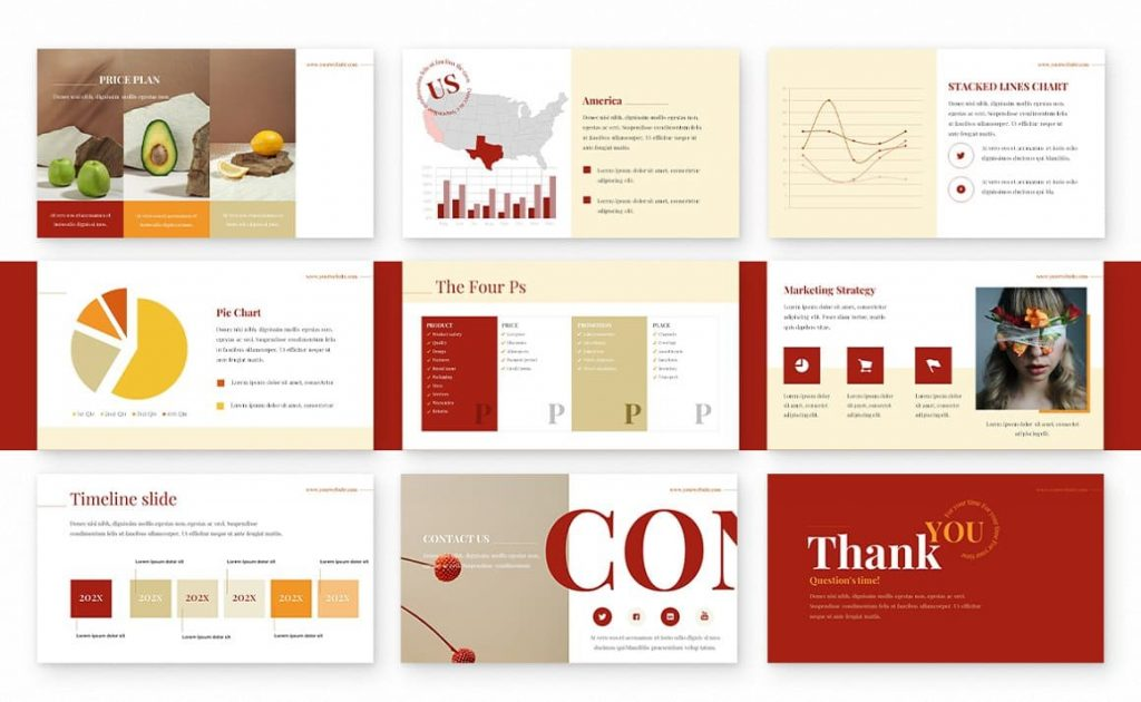 Ginger Powerpoint Presentation Template Slides Preview.