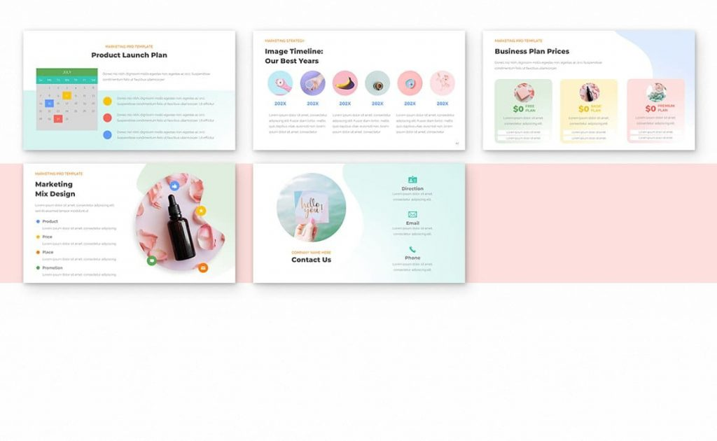 Contact Us Slides Marketing PRO Powerpoint Template.