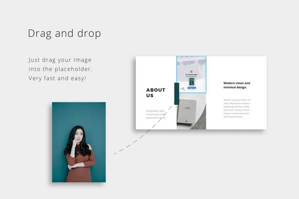 Drag and drop NOYA - Powerpoint Template.