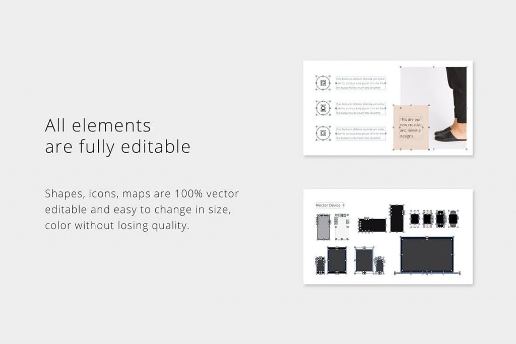 Fully Editable MAON Elements - Powerpoint Template.
