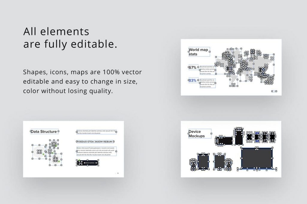 All presentation elements are fully editable.