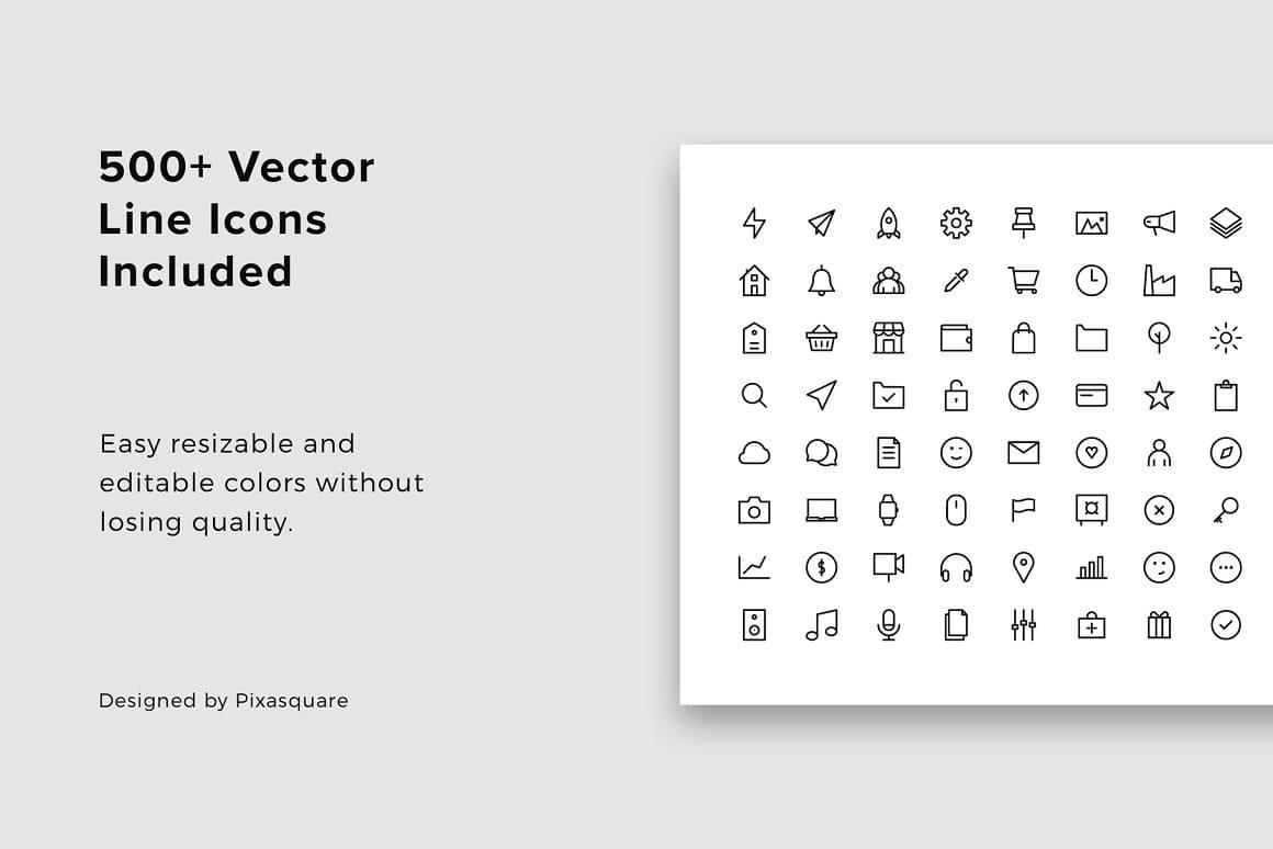 BONUS: 500+ vector icons in BOSH slides - Powerpoint Template.