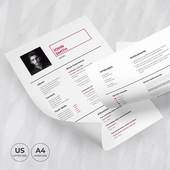 Art Director Resume Template CV cover image.