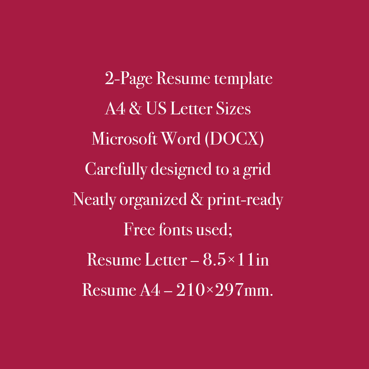Art Director Resume Template CV preview image.