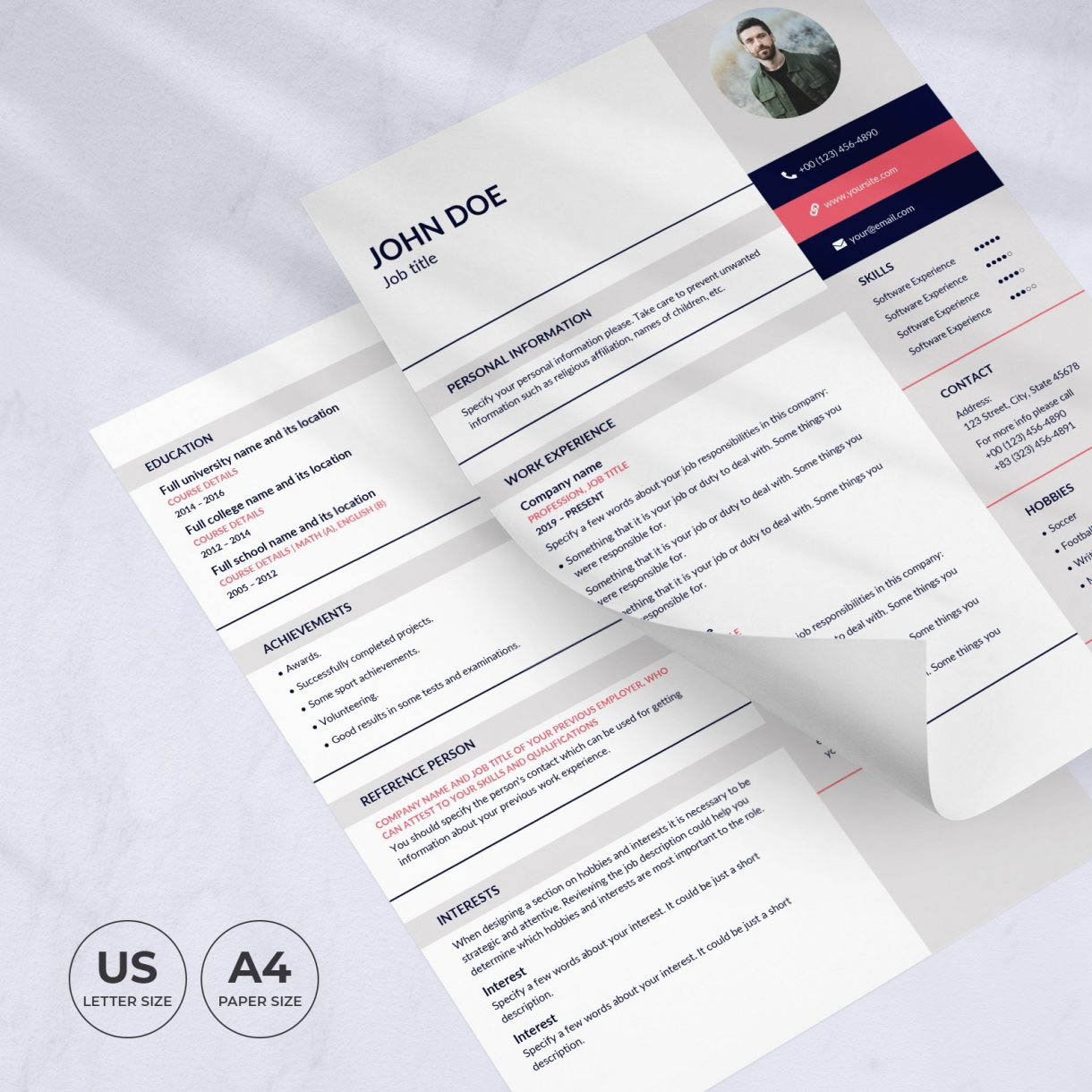 Art Gallery Resume Template CV preview image.