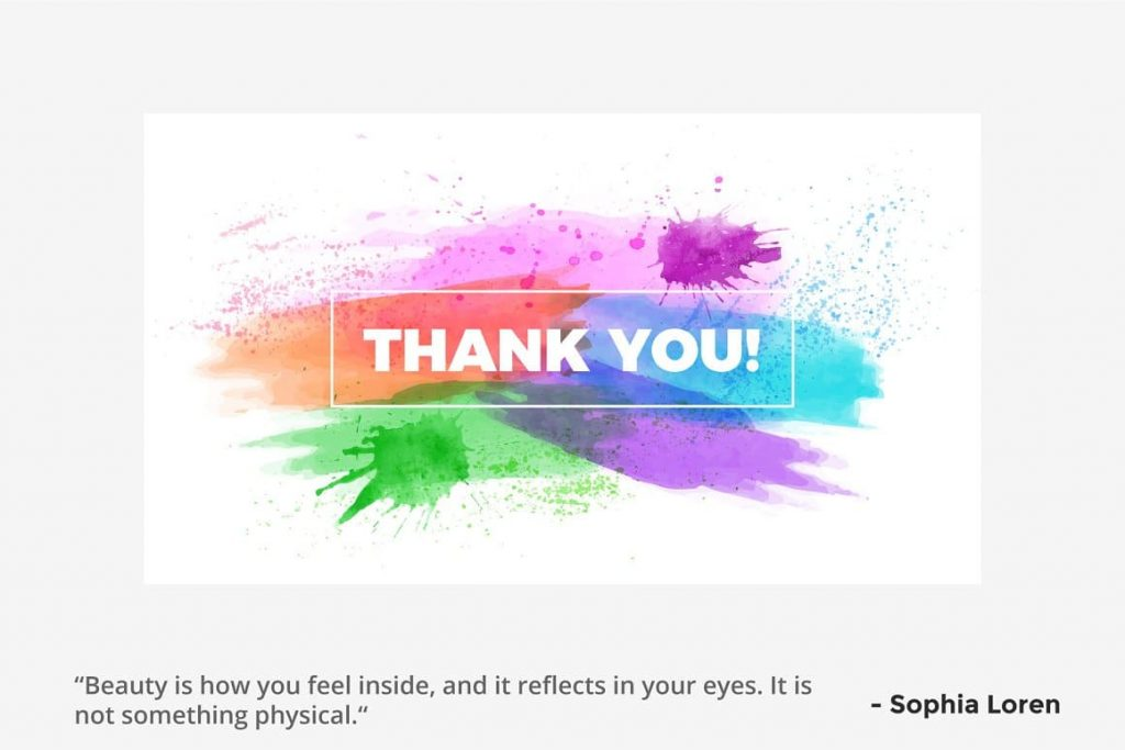 Slide Thank You Watercolor Infographic Templates.