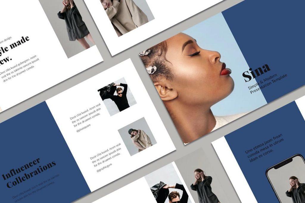 SINA - Powerpoint Style Template.