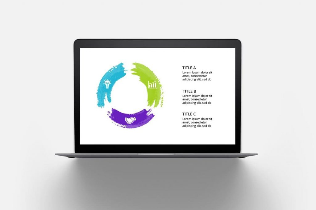 Infographics on notebook Watercolor Infographic Templates.