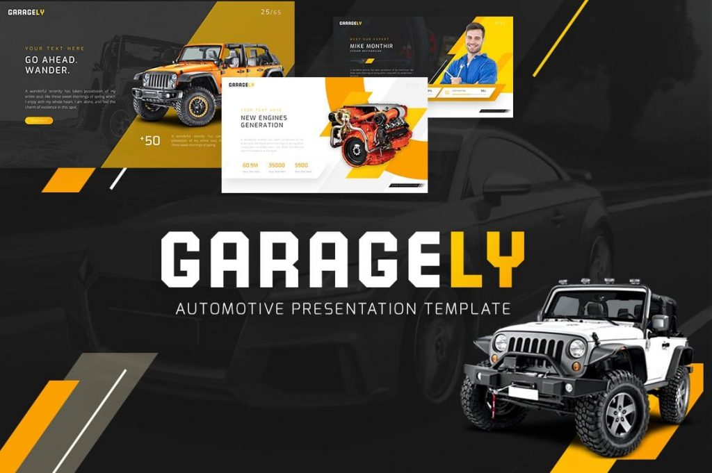 Cover for Garagely Automotive Presentation.
