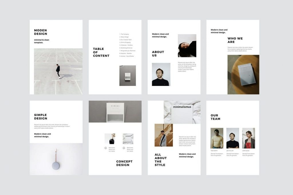 40+ Unique, modern and clean slides MODEN - Powerpoint Vertical Template.