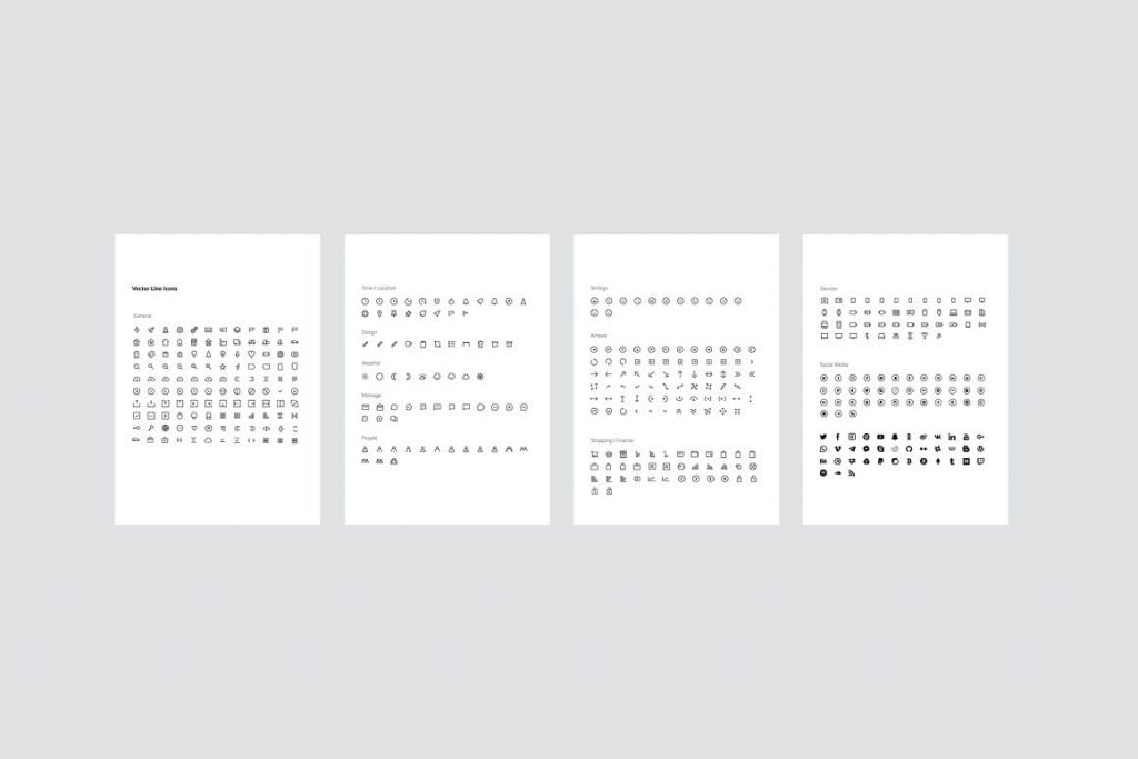 Preview of MODEN - Powerpoint Vertical Template icons.