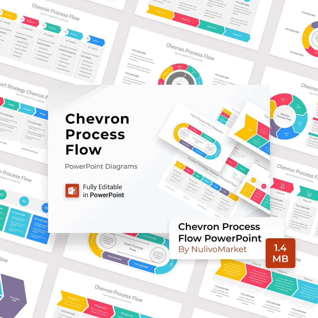 Chevron Process Flow PowerPoint by MasterBundles.