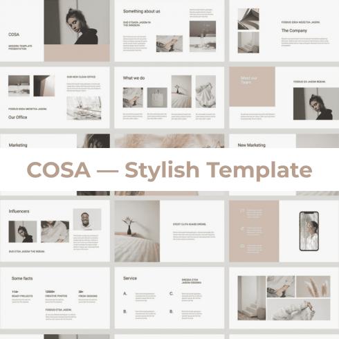 COSA - Keynote Style Template by MasterBundles.