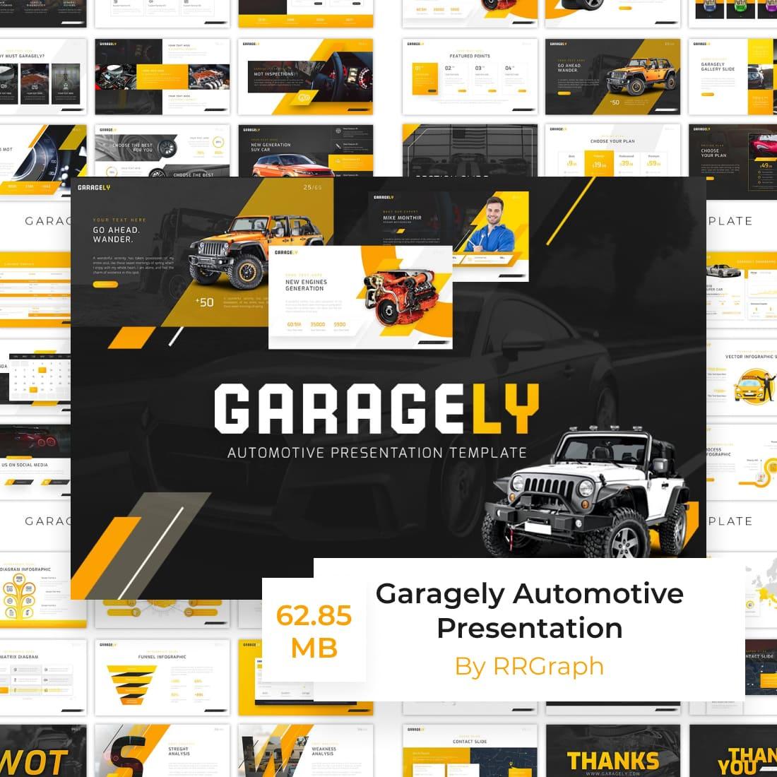 Garagely Automotive Presentation by MasterBundles.