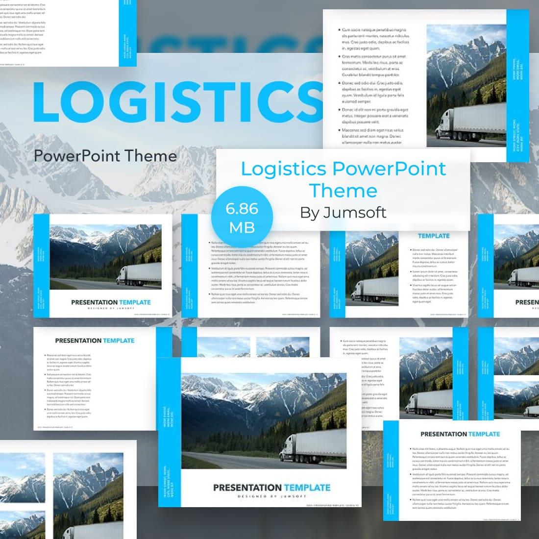 01 Logistics PowerPoint Theme 1100x1100 1