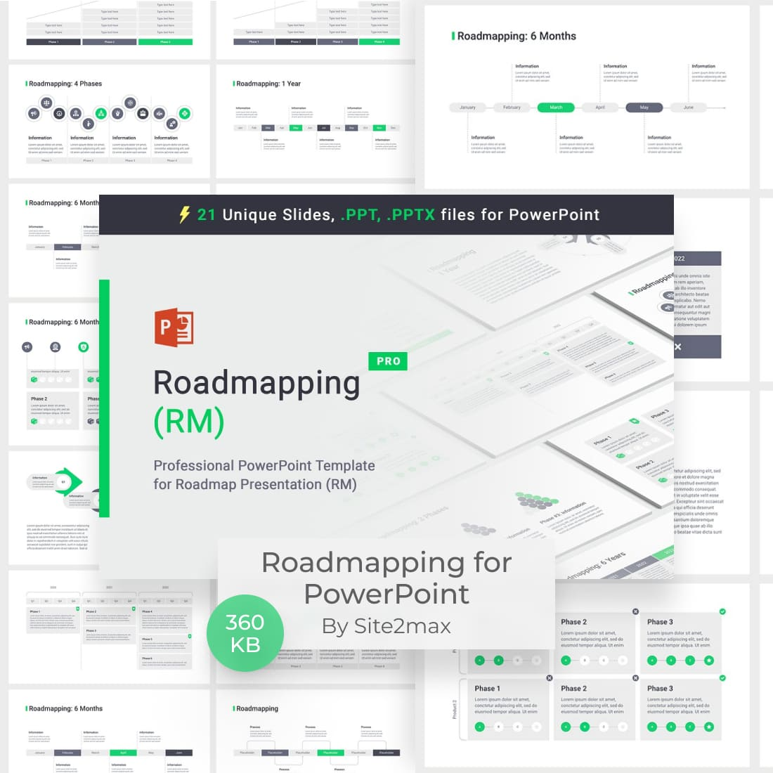 Roadmapping for PowerPoint by MasterBundles.