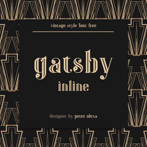 Gatsby Font Free Main Cover.