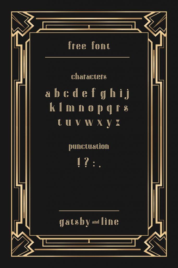 Gatsby Font Free Pinterest Alphabet Preview by MasterBundles.