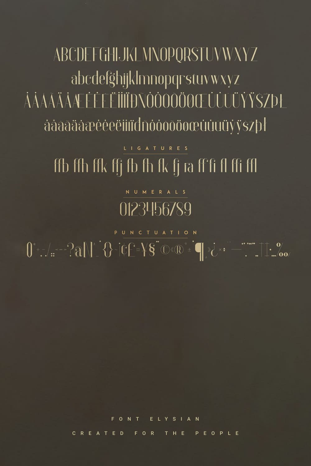 01. Anteric College Font 3 weights Pinterest image.
