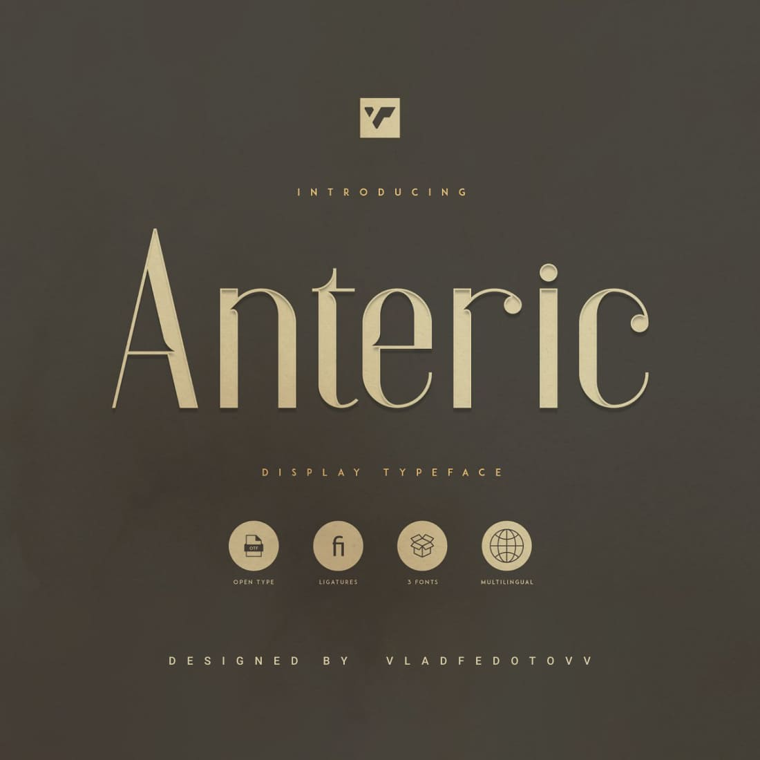 Anteric College Font 3 weights cover image.