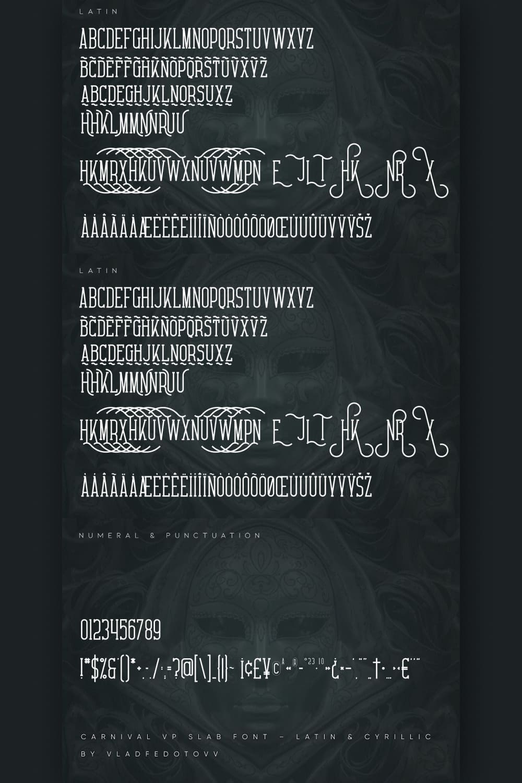 Carnival VP Slab Font – Latin Cyrillic Pinterest cover.
