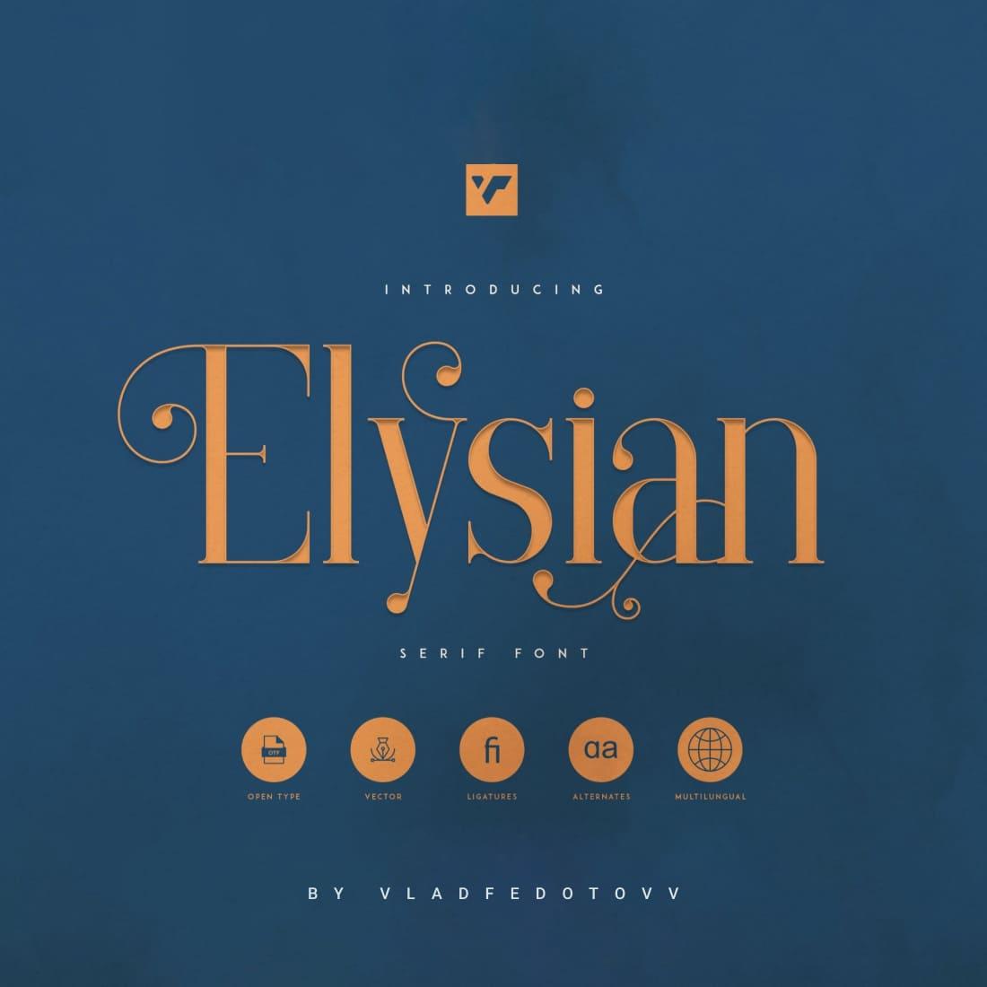 Elysian – Serif Font Cover image.