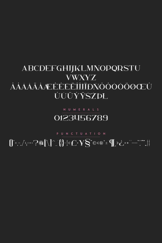 01. Kavo Styled Serif Typeface Family 5 fonts Pinterest image.