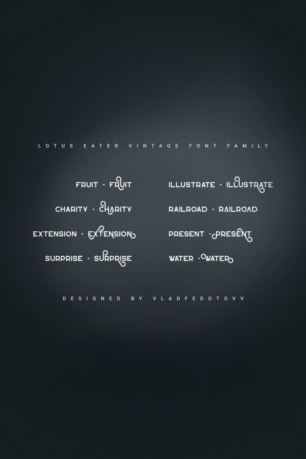 Lotus Eater Vintage Font Family clean family with latin and Cyrillic support.