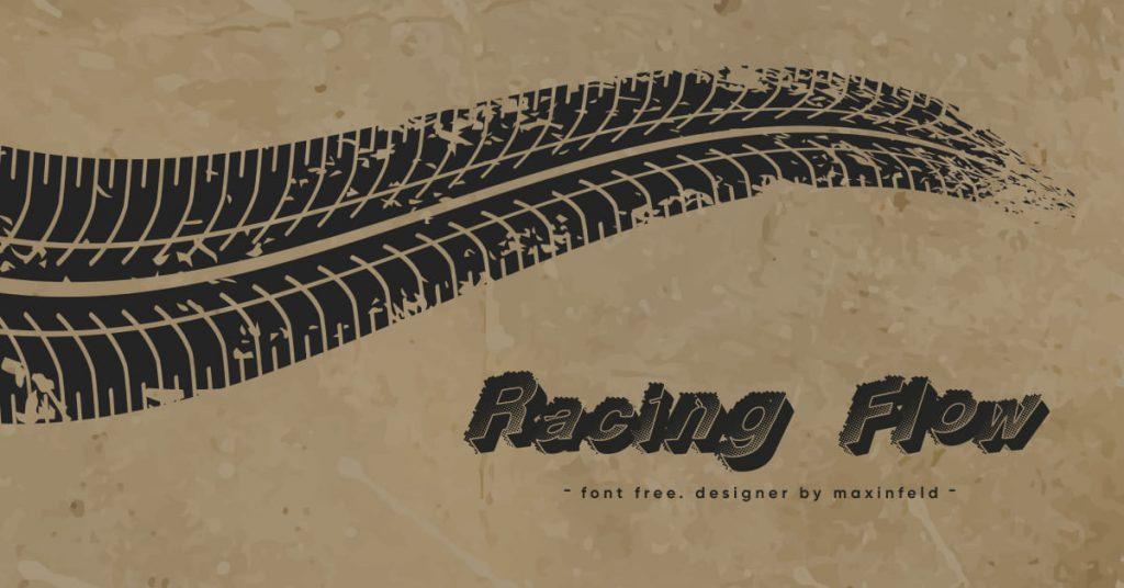Racing Font Free Facebook Collage Image.