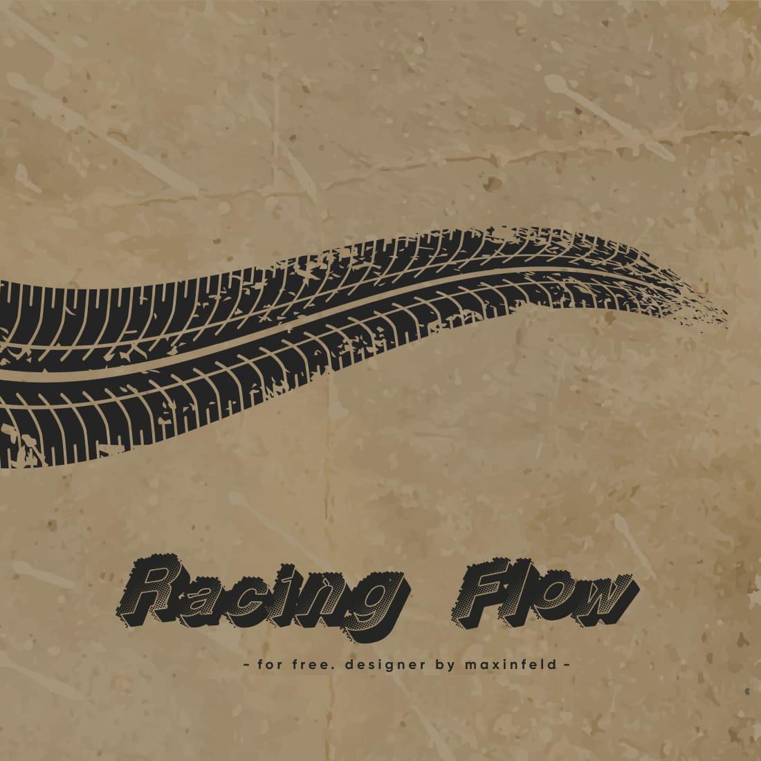 Racing Font Free Main Cover by MasterBundles.