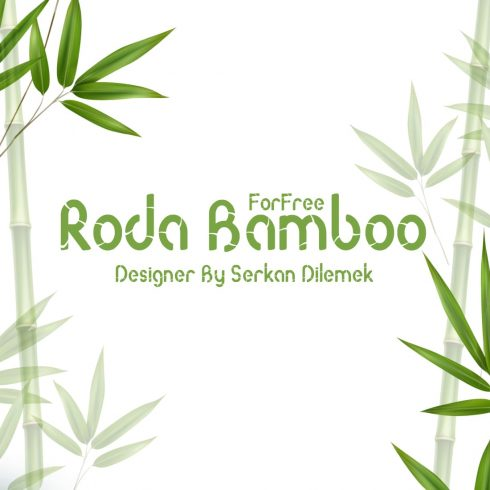 Free Bamboo Font Main Cover.