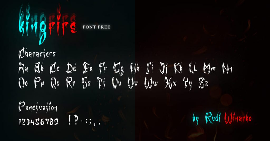 Fire Font Free Facebook Collage Image by MasterBundles.