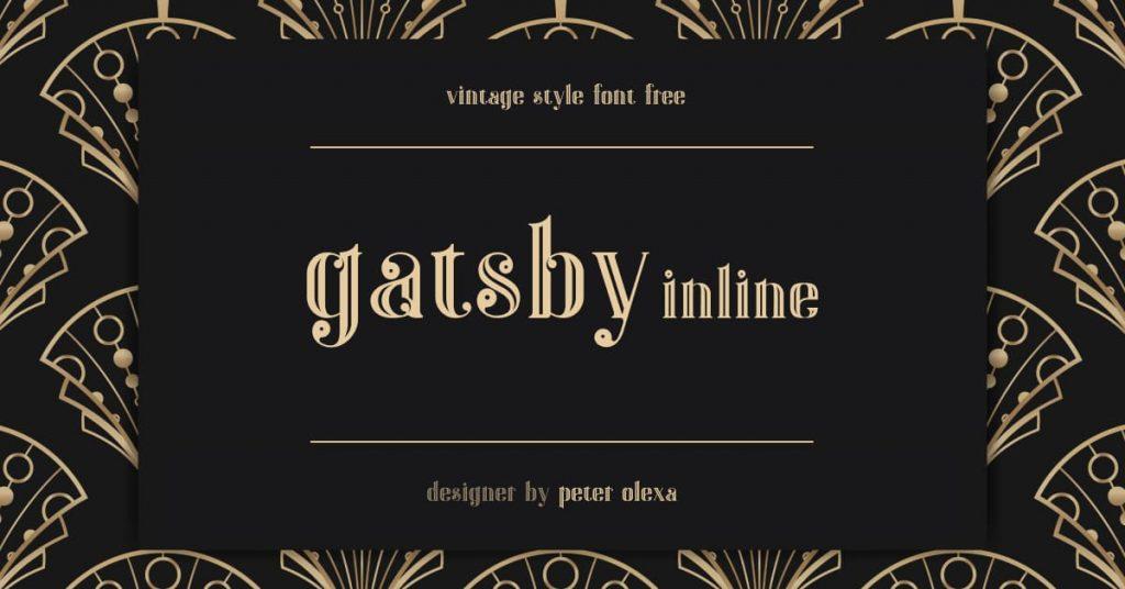 Gatsby Font Free Facebook Collage Image by MasterBundles.