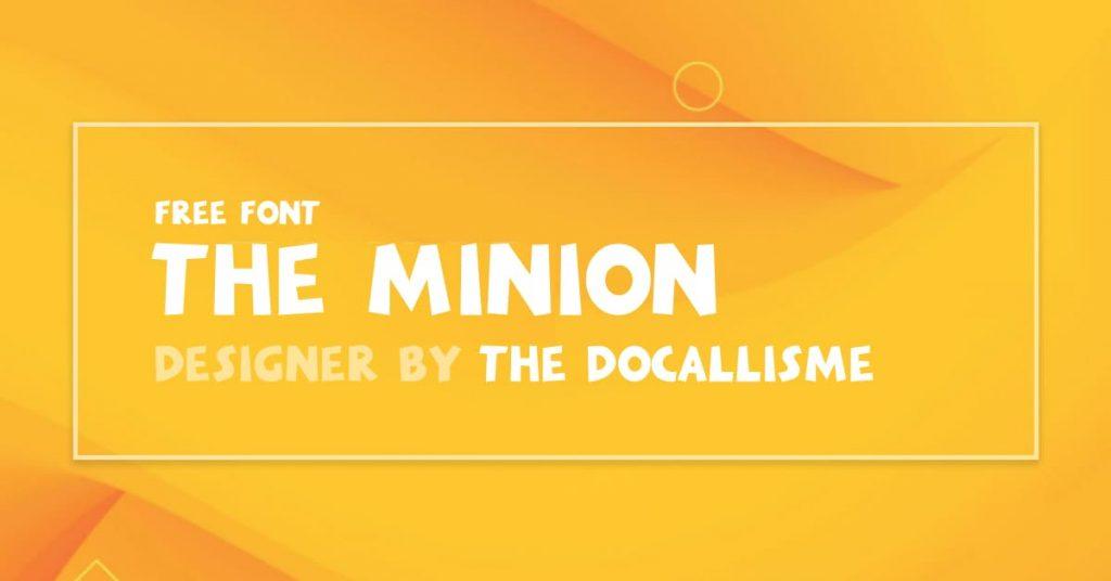 MasterBundles Minions Font Free Facebook Collage Image.