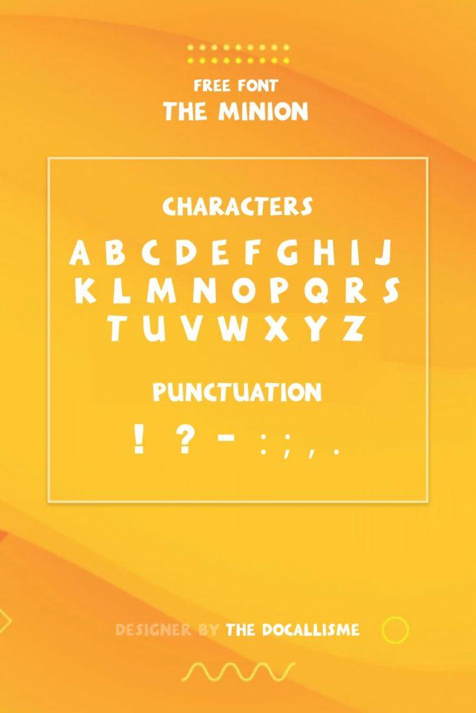 MasterBundles Minions Font Free Pinterest Characters Preview.
