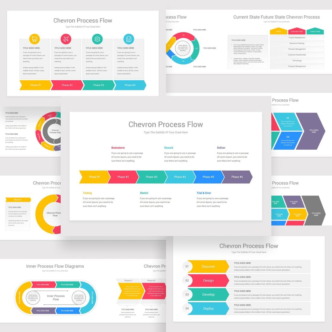 Chevron Process Flow PowerPoint.