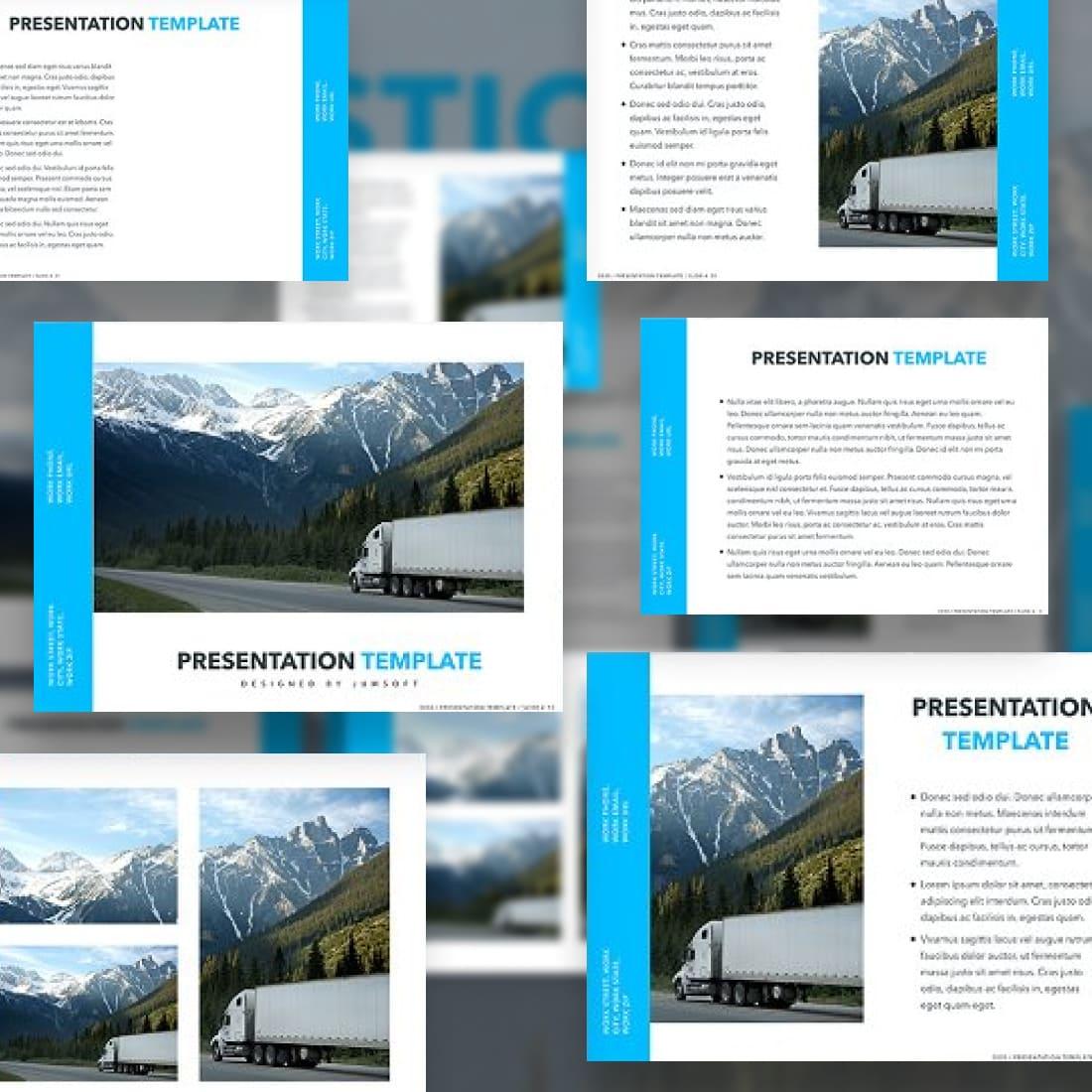 Logistics PowerPoint Theme.