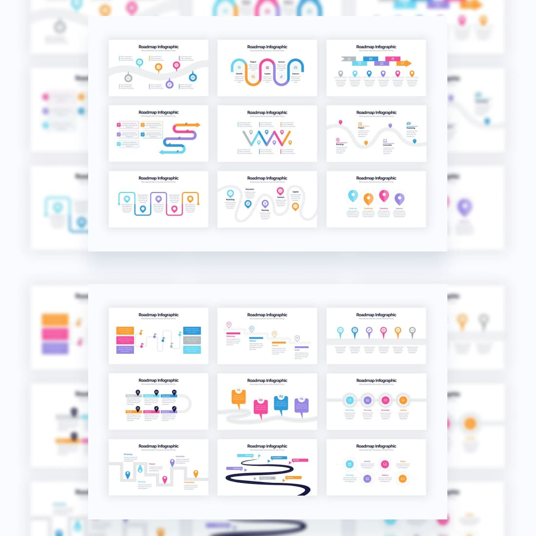 Roadmap Powerpoint Infographics.