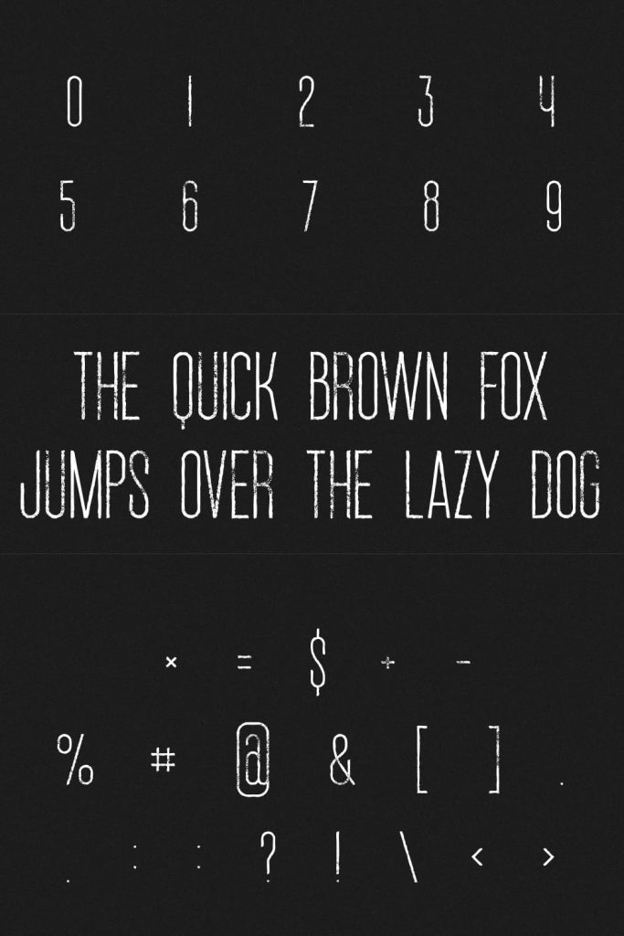Grunge Font Free Numbers and Symbols Example for Pinterest by MasterBundles.