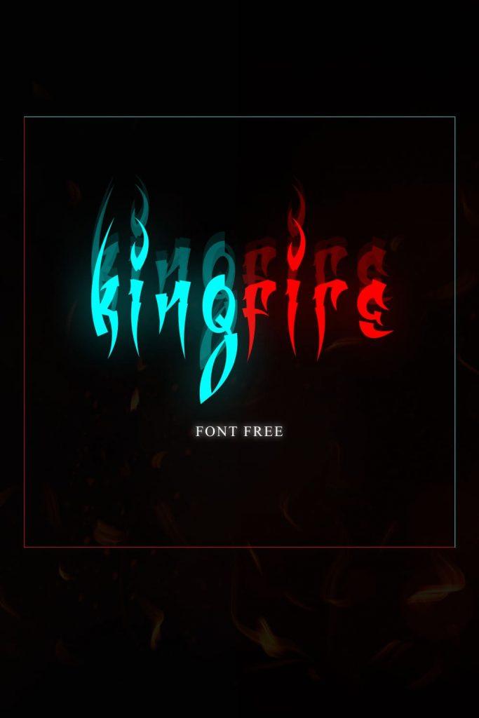 MasterBundles Fire Font Free Pinterest Collage Image